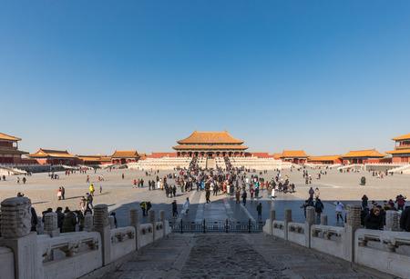 BEIJING - FEBRUARY 1: Visit the Forbidden City on February 1, 2018 in Beijing, China. Visit the Forbidden City in Beijing.