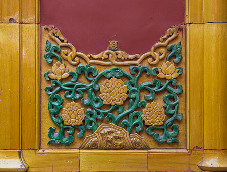 Chinese tiles in traditional style pattern