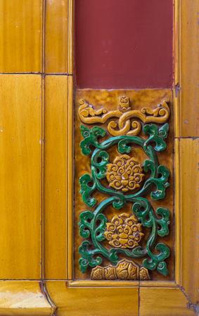 ancient buildings traditional decorative tiles