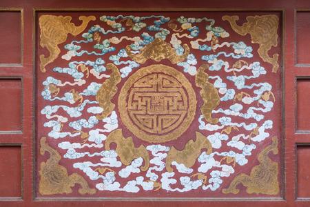 Chinese traditional five bat pattern screen, Symbolizes auspiciousness. 写真素材