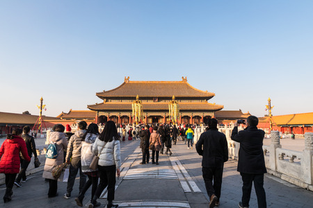 BEIJING - FEBRUARY 1: Visit the Forbidden City on February 1, 2018 in Beijing, China.