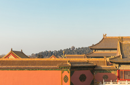 Beijing Forbidden City traditional architecture background