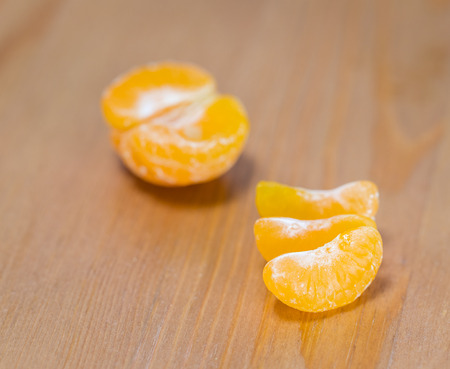 Fresh tangerine close up 写真素材