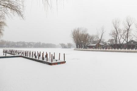 Beijing Houhai in winter 写真素材