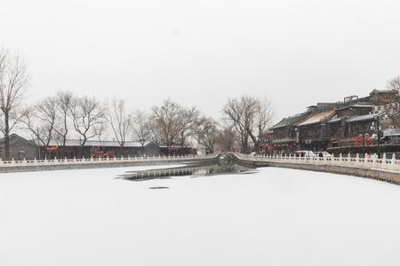 Beijing Houhai in winter 報道画像