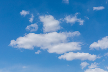 Blue sky and whit cloud background 写真素材