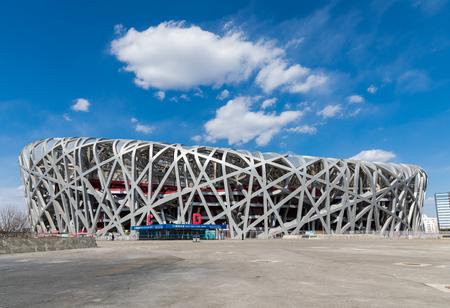 PECHINO - 13 marzo: Stadio Nido d'uccello il 13 marzo: 2019 a Pechino, Cina.