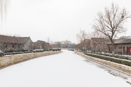 Beijing - February 12: Houhai on February 12, 2019 in Beijing, China.