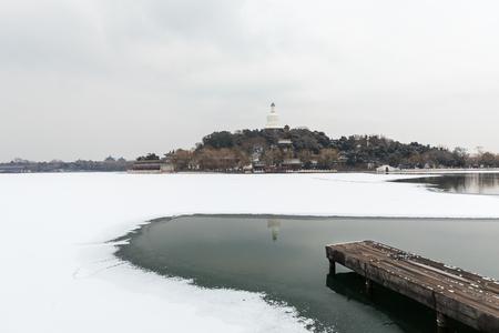 Beijing Beihai Park Snow Scene