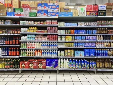 BEIJING - March 24: Drink sale on Supermarket.