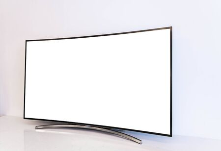 Curved ultrawide TV 写真素材 - 140094029