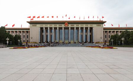 BEIJING-October 3: Great Hall of the People on October 3, 2017 in Beijing, China. Great Hall of the People.