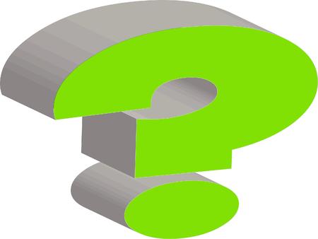 symbol  punctuation: 3D question mark shape Stock Photo