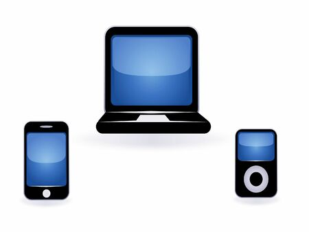 telecommunications equipment: high tech, illustration