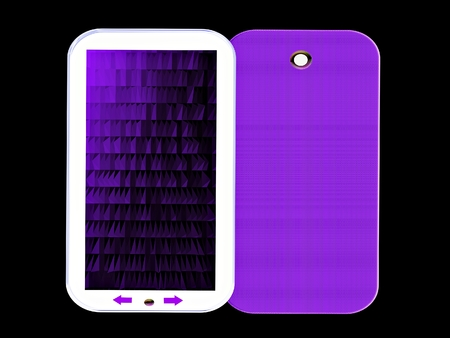 technic: mobile phone with polygon