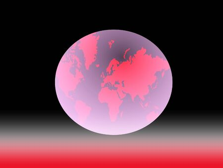 business symbol: world map, business symbol Stock Photo
