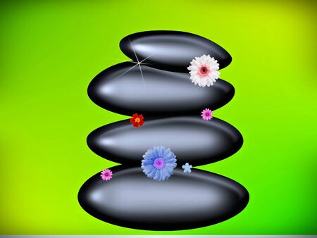 pebble: pebbles with flowers