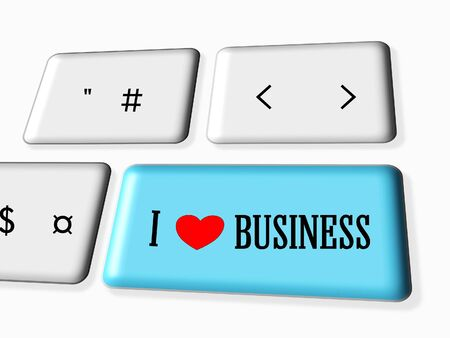 love strategy: I love business on the keyboard