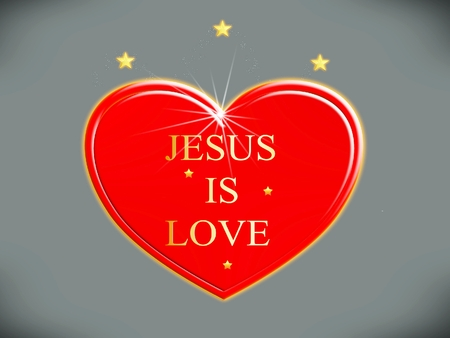 I love Jesus, symbol Stock Photo