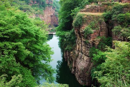 landform: the valley in taihang mountains