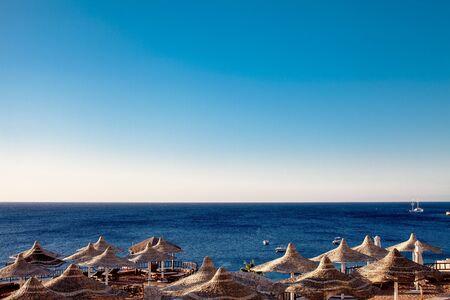 sharm el sheikh: Parasols at Red Sea. Sharm El Sheikh