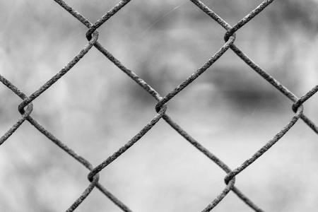Beautiful netting mesh pattern on a blurred background. Rust.