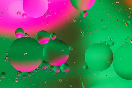 Colorful artificial background with bubbles. Artificial lighting. Background Stock Photo
