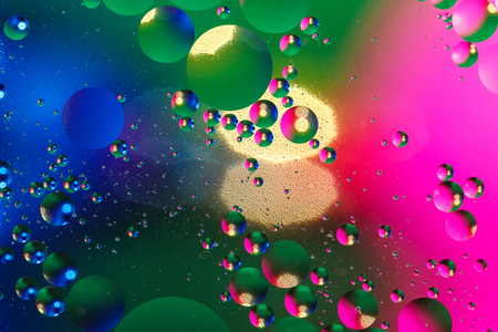 Colorful artificial background with bubbles. Artificial lighting. Background Фото со стока