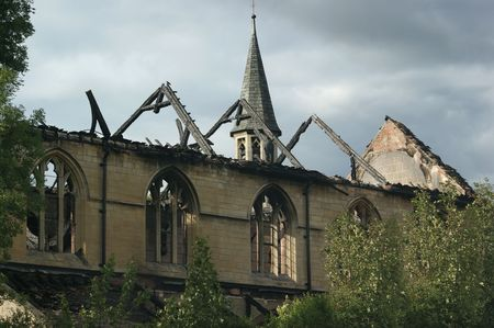 St Albans Church in Retford, UK, that burnt down in 2008 Stock Photo