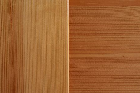 perpendicular: Two pieces of wood with the grain in perpendicular directions Stock Photo