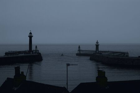 Whitby Harbour taken before the sunrise