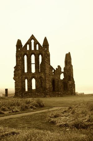 Whitby Abbey with an aged feel