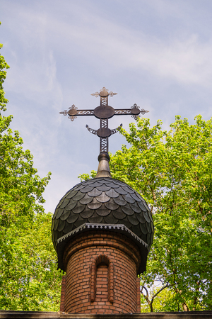 dome of an orthodox church on a sky background