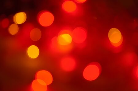 Multicolored lights in blur.