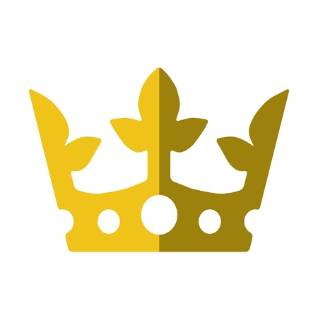 realm: The King s Bling- a golden crown in a flat or metro graphical style  Recommended usage  Print it, cut it out, wear to party, and proclaim your sovereignty  Illustration