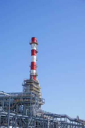 Petrochemistry. Chimney. Complex for the processing of hydrocarbons at an oil refinery