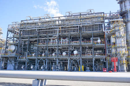 Petrochemistry. Gasoline production. Complex for the processing of hydrocarbons at an oil refinery.
