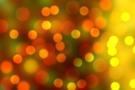 yellow red orange green bokeh