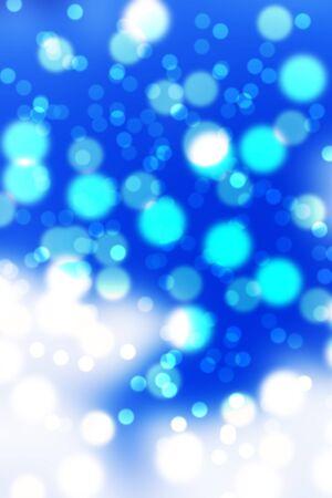blue and white bokeh Stock Photo