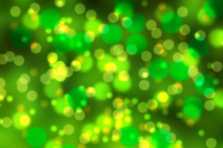 Green and yellow bokeh Stock Photo