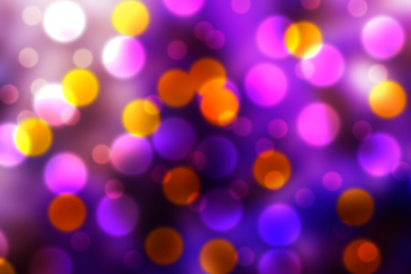 purple, orange and white bokeh