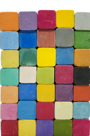 stack of variety colors of chalk pastel Stock Photo