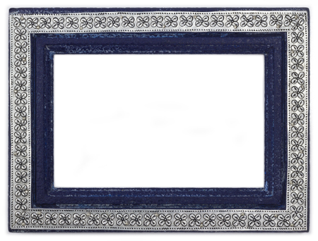 Thai styled vintage handmade frame Stock Photo