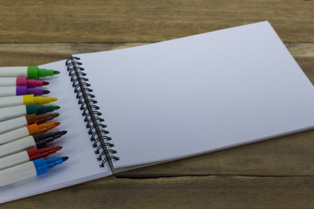 drawing pad: colorful marker pen on drawing pad