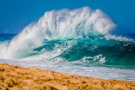 screen savers: North Shore Hawaii Waves Stock Photo