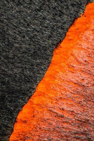 Close up view of Lava on Hawaii's Big Island 写真素材