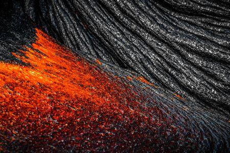 Close up view of Lava on Hawaii's Big Island