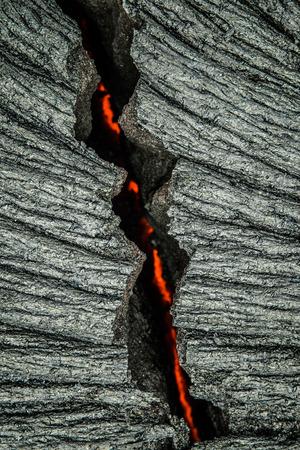 Lava flows on the Big Island of Hawaii Stock Photo