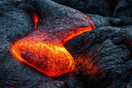 Lava flows on the Big Island of Hawaii Фото со стока