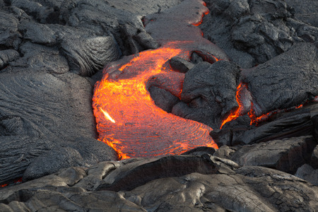 Lava flowing on the Big Island of Hawaii